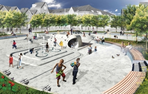 Concept Water Plaza in Rotterdam Credit: DE URBANISTEN