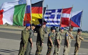 Armed forces from European countries cooperate in a joint military exercise in Italy in 2011. Credit: European Defence Agency
