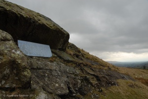 The rock from which George Fox may have preached for three hours to a thousand Seekers in 1652.