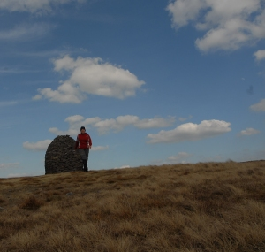 On the plateau atop Pendle Hill