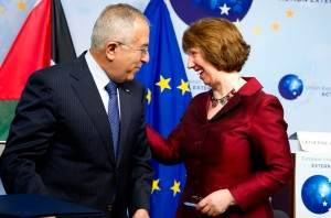Mr Salam Fayyad, Palestinian Prime Minister; Ms. Catherine Ashton, High Representative of the EU for Foreign Affairs and Security Policy. Credit: European Union