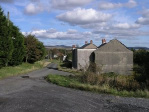 Ghost village near Cwmllynfell, Wales: residents suffered from unacceptably loud noise and vibrations from a nearby opencast coal mine n the 1980s.