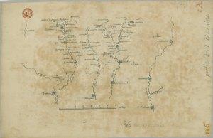 Map of Ukraine made between 1724-1729