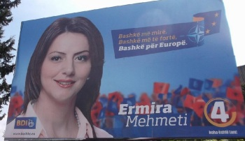 There were many election posters in Skopje in April. This was the only one I found for a female candidate. Photo: Andrew Lane
