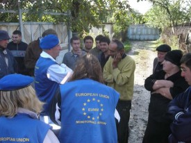 The EU Monitoring Mission in Georgia, an example of the EU's peacebuilding work Photo credit: European External Action Service Licensed under a Creative Commons licence