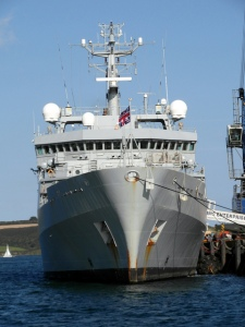 HMS Enterprise, part of the UK's contribution to the EU Naval Force Mediteranean (EUNAVFOR MED) operation launched agreed by EU governments in May 2015.