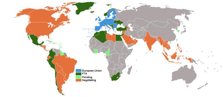 EU_free_trade_agreements