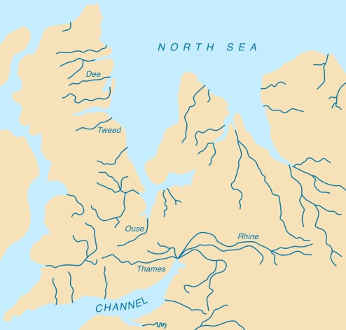 Britain's place in Europe is a geographic reality. 10,000 years ago the bond was even stronger! (Credit: Creative Commons: Wikipedia).