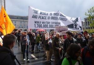 An anti-militarism demonstration in Brussels Photo credit: Andrew Lane